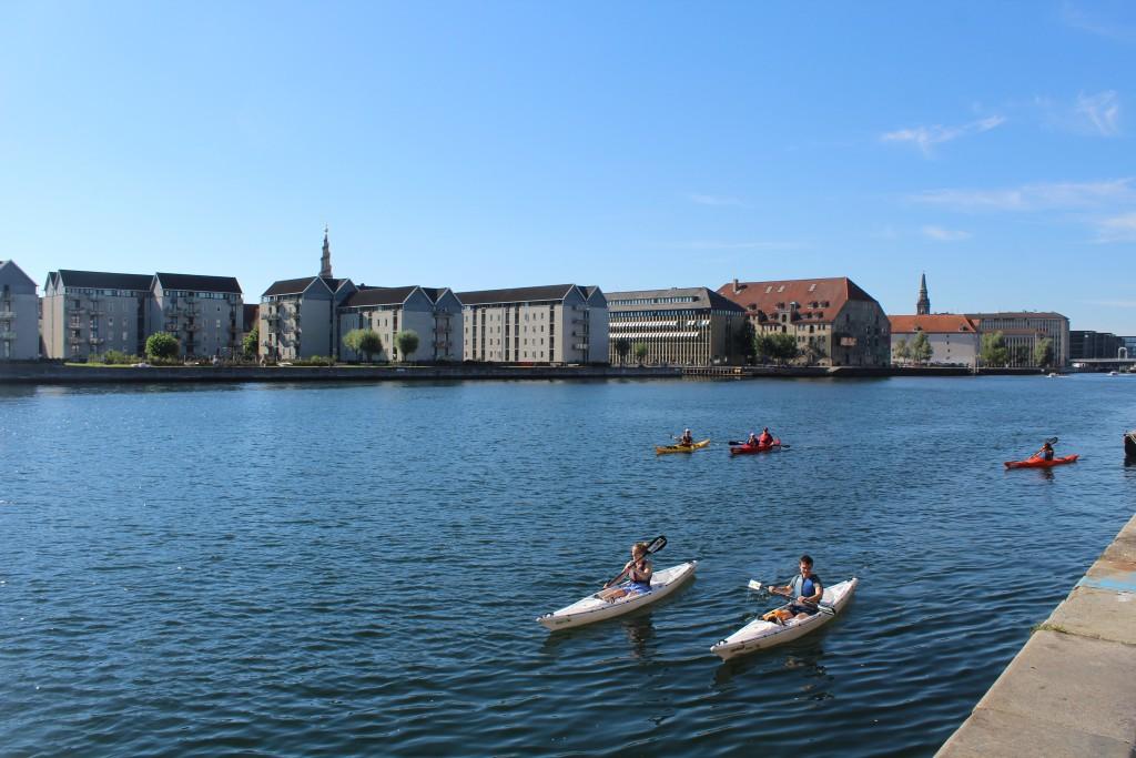 View from Havnegade to Christianshavn on south side of Copenhagen Inner Harbour