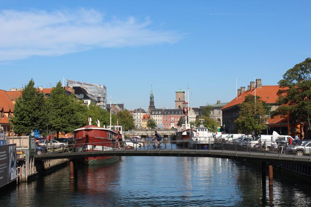 """View from bridge """"Bryghusbroen"""" to Frederiksholm Ca"""