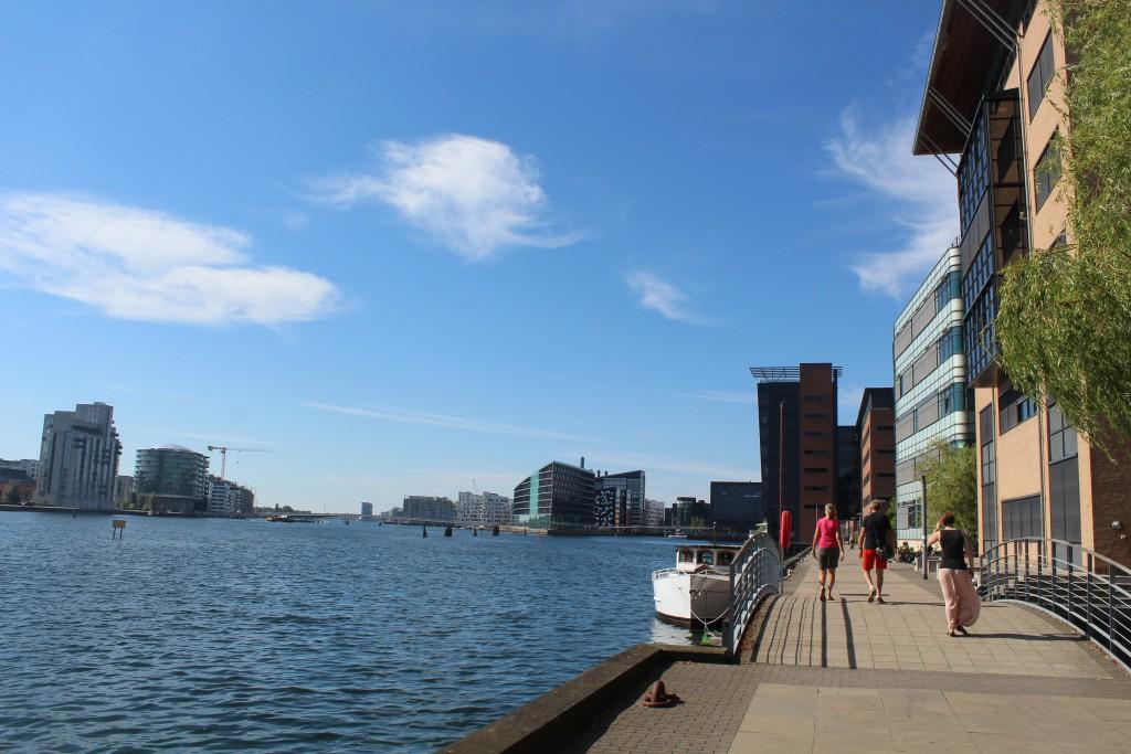 North side of Copenhagen Inner Harbour - <kslvebod Brygge. Phoot in direction west 25. august 2016 by erik K Abtr