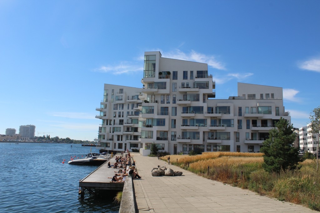 Havneholmen private residencies at north side of Copenhagen Inner Harbour