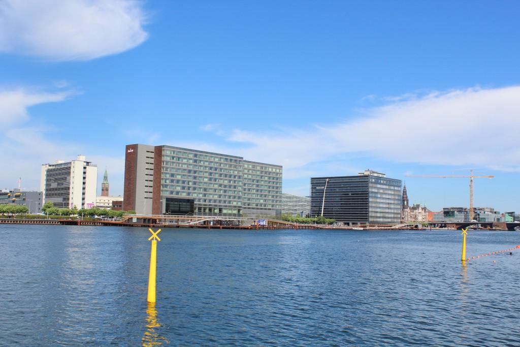 Vue from Island brygge to Kalvebod Brygge on north side of Copenhagen Innder Harbour