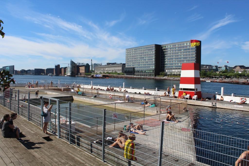 Islandsbrygge Bath on South side of Copenhagen Inner-