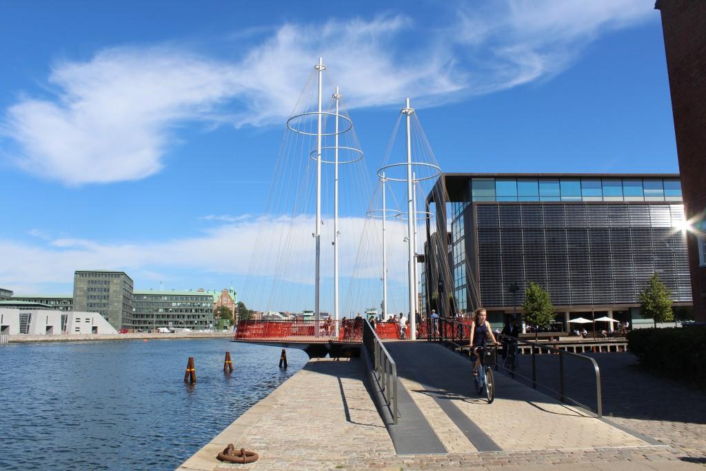 Cirkelbroen - Circle Bridge by artist Olafur Eliasson on south side of Copenhagen Inner Harbour
