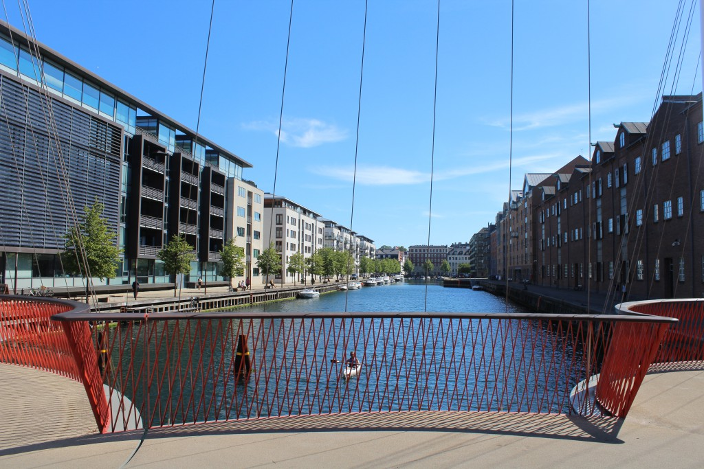 Vue from Cirkelbroen to Christianshavn Canal. Photo in direction south 15. august 2016 by Erik
