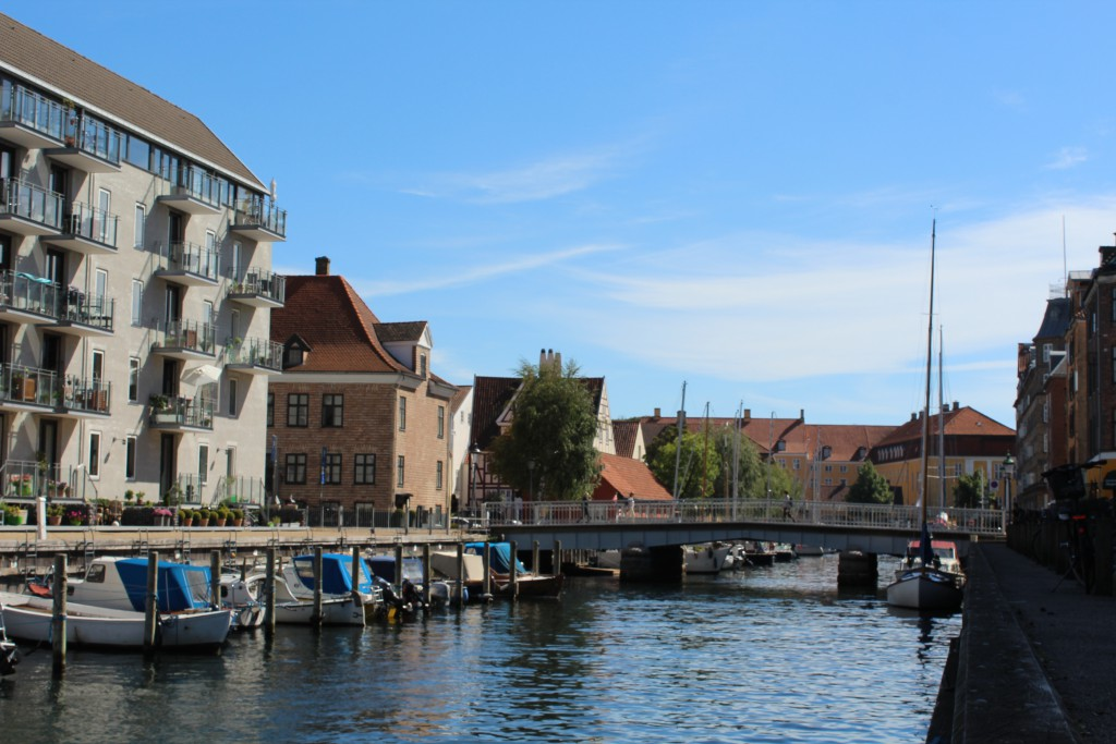 Christianshavn Canal at north side of Copenhagen Inner Harbour. View in direction