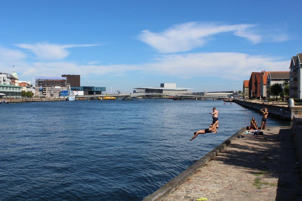 Christianshavn on north side of Copenhagen Inner Harbour, At right iresidential