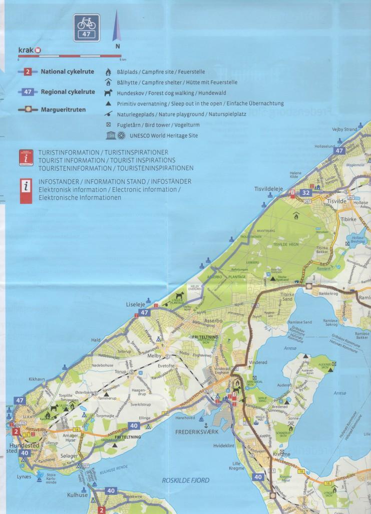 Konkernes Nordsjælland. Kort udgivet af VisitNor