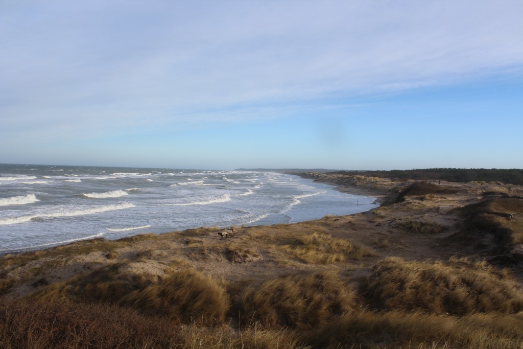 Liseleje Strand - udsigt mod øst mod TisvildeHegn og Tisvildeleje helt ude i horisonten. Foto den 27. d