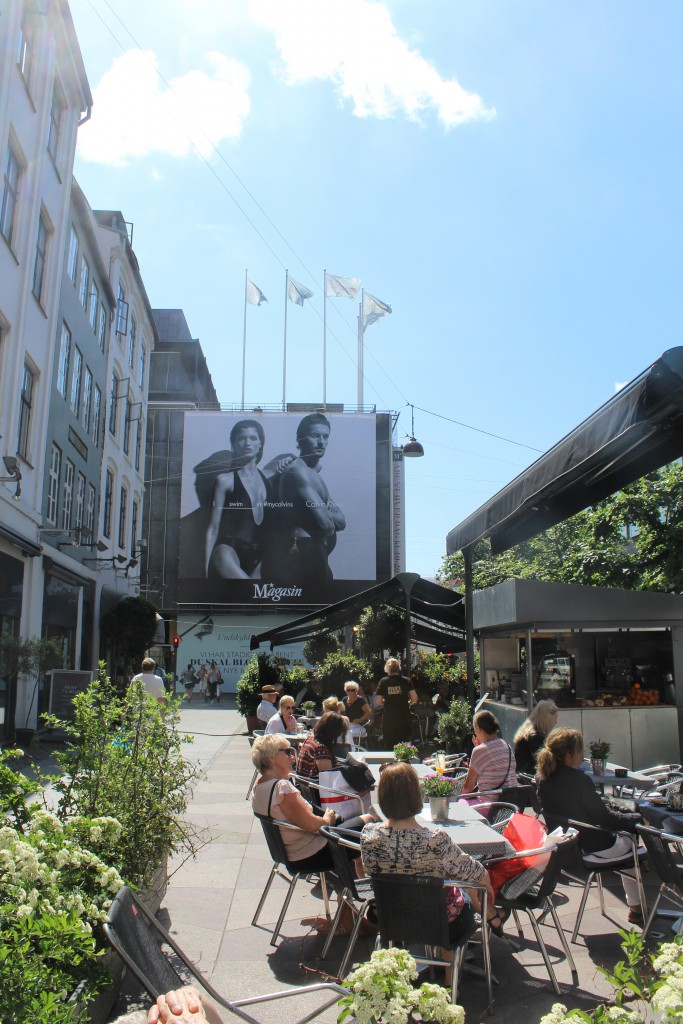 Lunch on restaurant on square between Østergade and