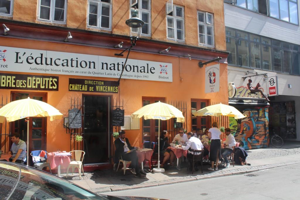 Lunch on restaurant in Latin Quarter, Lars Bjørns Stræde, Copenhagen City. Photo 6. june 2016 by Erik K Abrahamsen