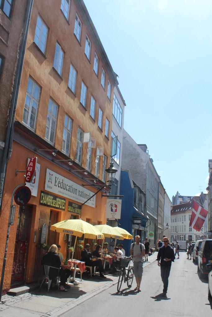 Lunch inLatin Quarter of Copenhagen. Phoot midday