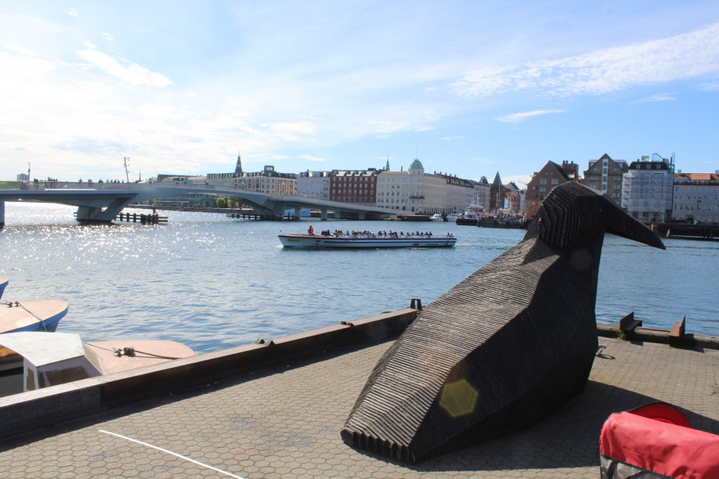 "New walk and nike slide bridge ""Inderhavnsbroen"". View from Paper Island (Papirøen) in direction west. Photo 3. may 2017 by Erik K Abrahamsen."
