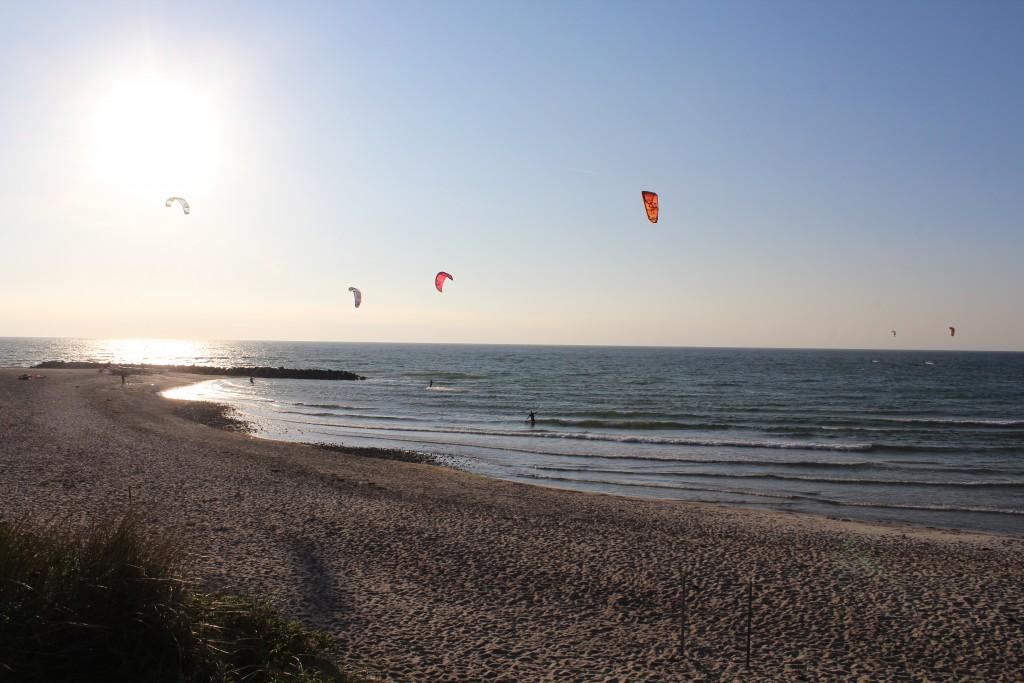 Liseleje Strand. Udsigt mod windsurfing