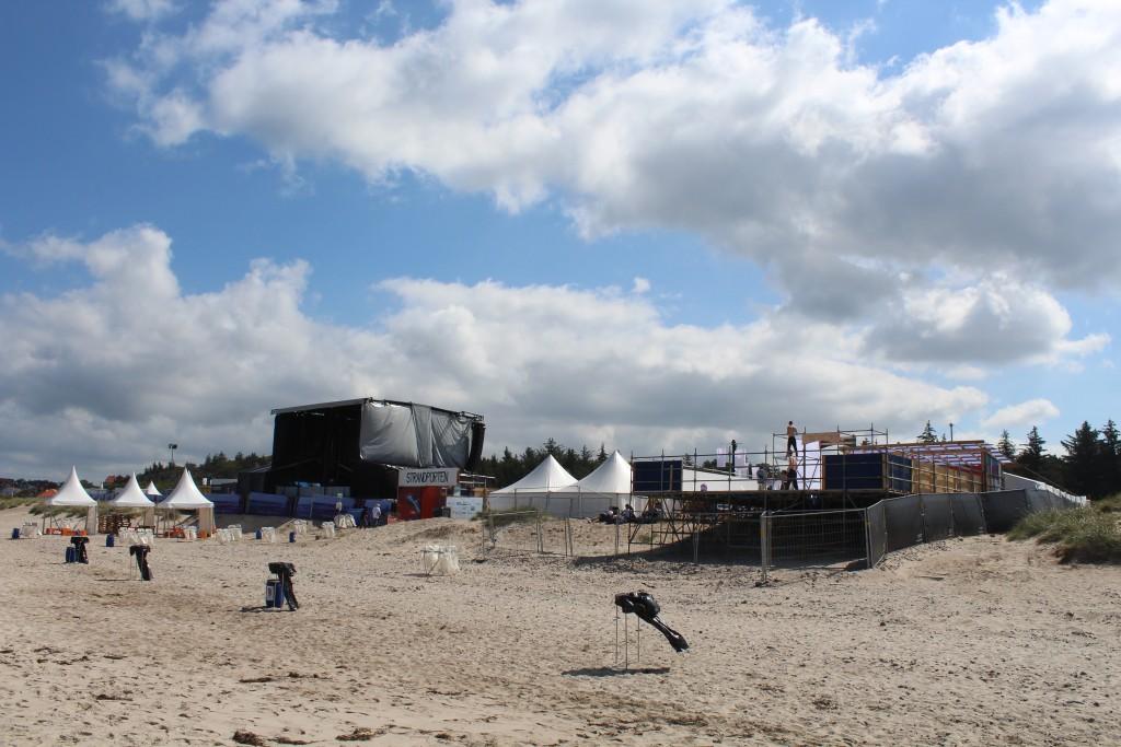 Festivalpladsen Musik i Lejet 2017 under opførelse