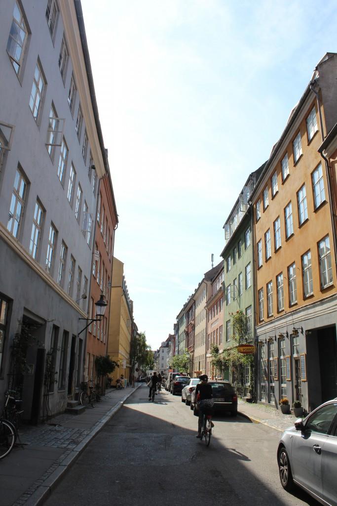 Teglgårdsstræde in Latin Quarter of Middle Age Copenhagen. Photo in direction south 29 august 2017 by Erik K Abrahamsen