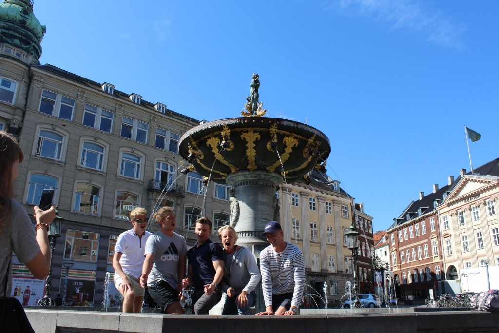 Caritas Fountain on Old