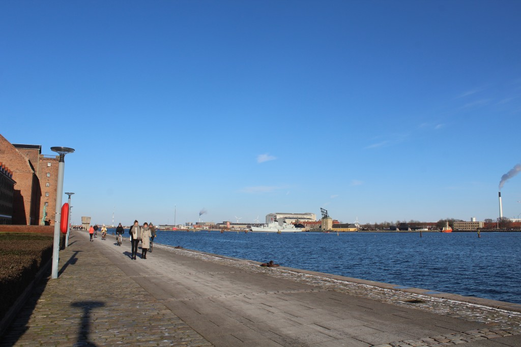 Copenhage Inner Habour. View in direction esat to Holmen Navy Base founded 1680 on island Nyhaolm. Phoot 5. february 2018 by Erik K Abrahamsen.