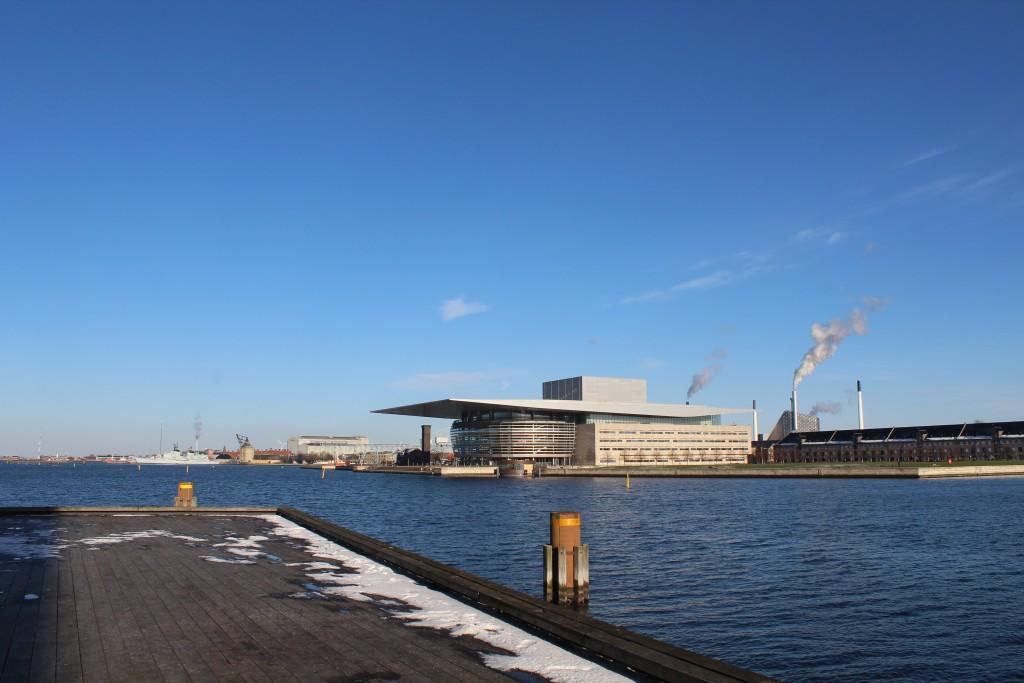 Copenhagen Inner Harbour. View in direction east to Copenhagen Opera