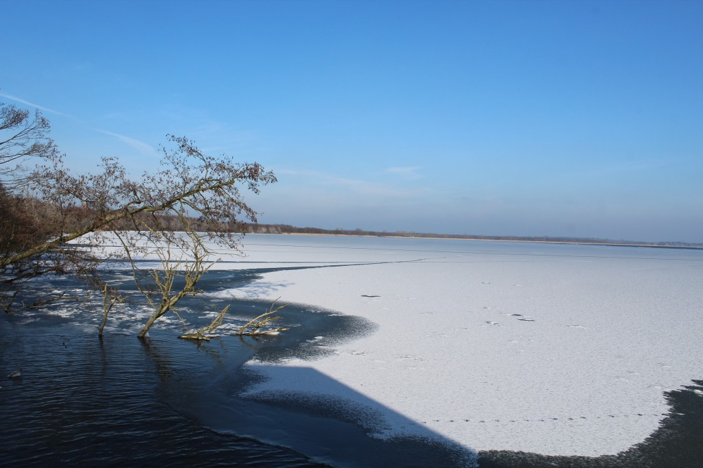 Arresø Lake. View in direction north from view point installation. Photo 9. february 2018 by Erik K Abrahamsen.