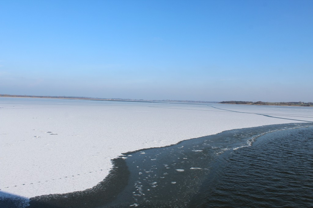 Arrsø lake. View from view point installation. Photo in direction east to Arrsø lake, Arrenæsr at right and Ramløse opposite the lake 9. febraury 2018 by erik K Abrahamsen.