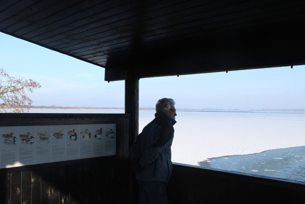 Arresø lake. View from view point installation. Photo in direction east 9. february 2018 by erik K Abrahamsen.