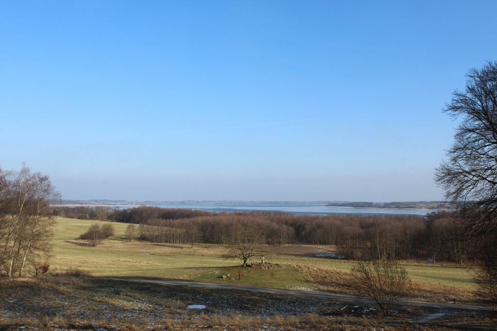View from Frederiksdal forest to Arresø lake. Photo in direction north-east to Arresø lake. Photo 9. february 2018 by erik K Abrahamsen.
