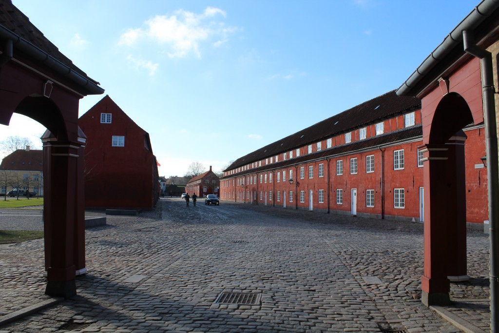 """Norway Gate . View to principal route through Kastellet to main gate Kings Gate """"Kongeporten"""". View in direction souyh 22. february 2018 by Erik K Abeahamsen."""