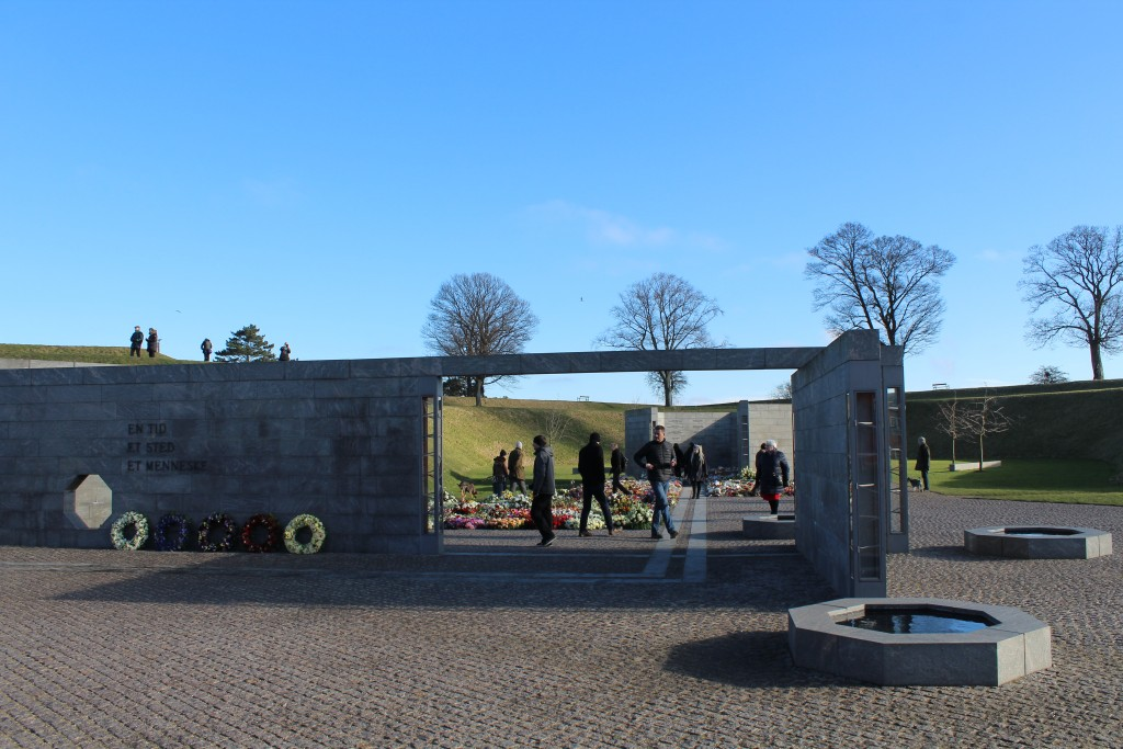 National Monument of danish Internal Missions since 1948. Vie to SPAVE A TIME (in front), SPACE A PLACE (in middle) AND SPACE A PERSON 8in distance).