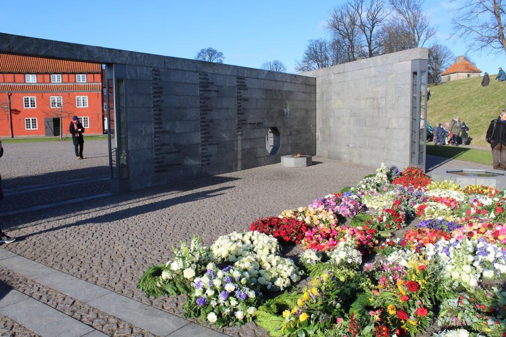 Det Nationale Monument i Kastellet. Udsigt mod RUM: ET STED. Foto den 22. februar 2018 af Erik K Abrahamsen.