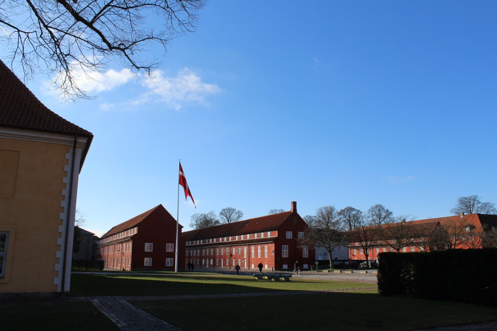 Fortress Kastellet. View to principaæ route between the only 2 gates Kings Gate and Norway Gate