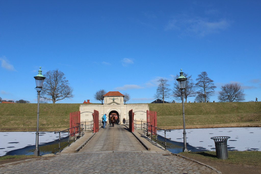 "Kastellet Fortress. Main entrance ""Kongeporten"" througt moats and ramparts. Photo 22. febrauary 2018 by erik K Abrahamsen."