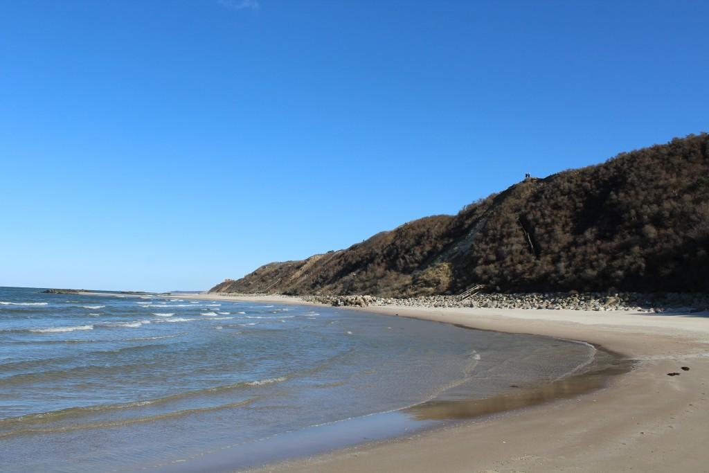 Udsugt ud over stranden i retning øst mod Liselej