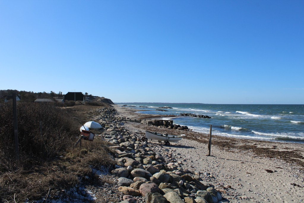 Kikhavn. Udsigt mod vest mod Rørvig og Sjællands Odde på den adnden side af indsejlingen til Isefjord.