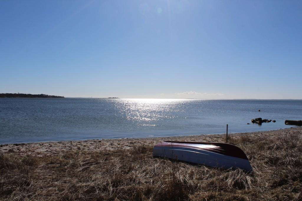 Sølager. udsigt mod syd-vest mod Roskilde Fjord og Isefjorden. Foto den 20. marts 2018 af Erik K Abrahamsen