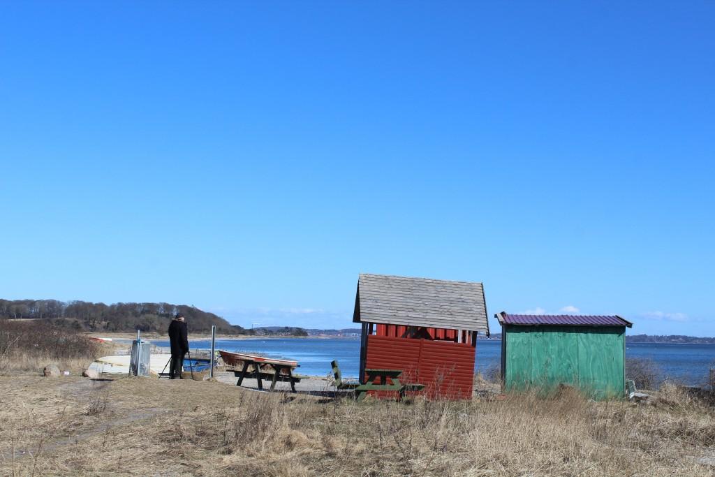 Sølager. udsigt mod Grønnemose Skov, frederiksværk og roskilde Fjord. Foto i retning øst den 20. marts 2018 af Erik K abrahamsen.