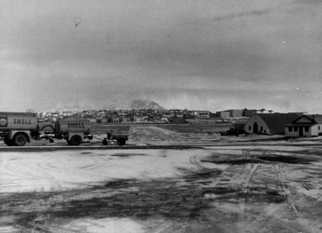 Keflavik Air Base på Island.