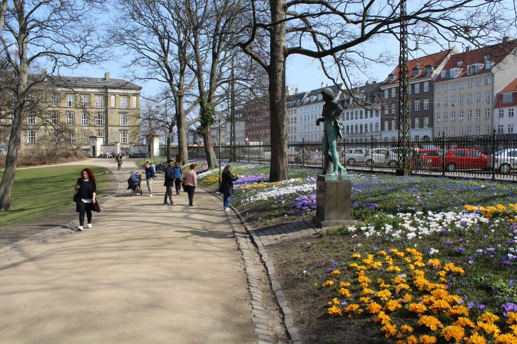 Spring 2018 in Ørsted Park. Phoho 9. april 2018 by Erik K Abrahamsen.