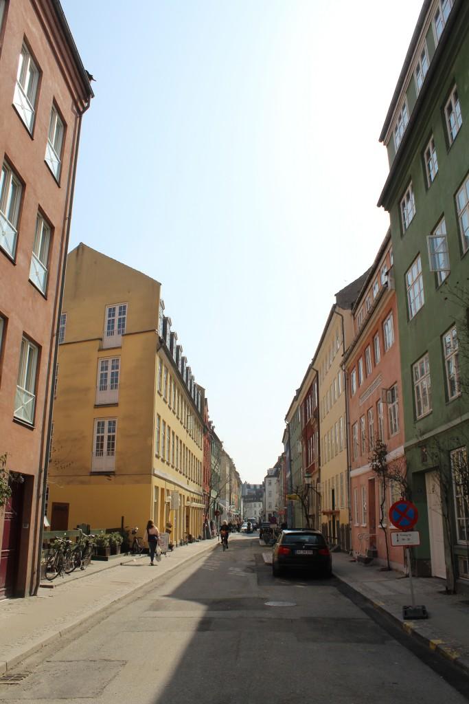 Spring Latin Quarter of Copenhagen City. Tegglgårdsstræde Phoot