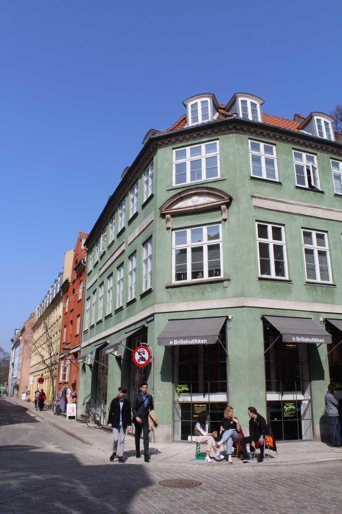 Latin Quarter in Copenhagen City. View to corner af Teglgårdsstræde and Sct Pedrers Sreæde. Photo 9. april 2018 by Erik K Abrahamsen,