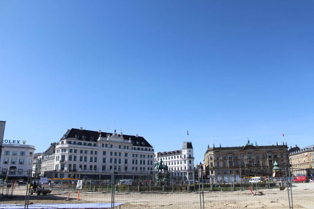 Kongens Nytorv. View to sculpture of King Christian 5 and Hotel DÁngleterre.