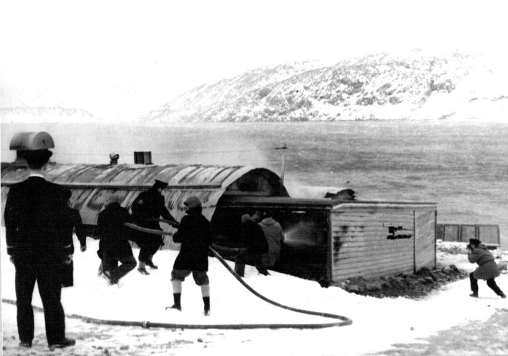 Brandslukning af Flådestatione Vaskeri