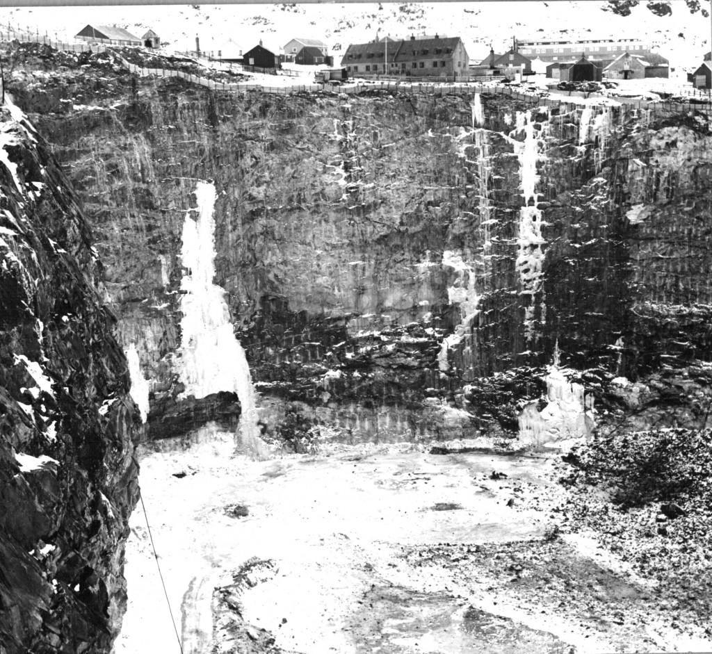 Kryolitbruddet i Ivigtut. Foto 1961