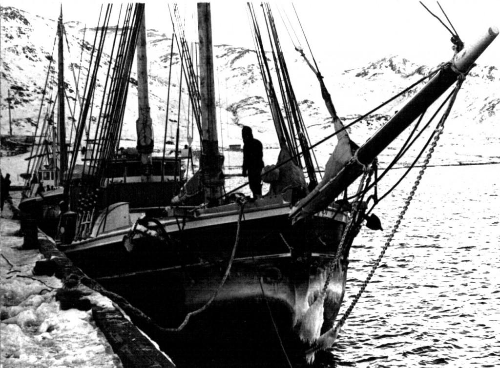 Søkongen ved kaj Havnen, Flådestation Grønnedal. Foto 1961.