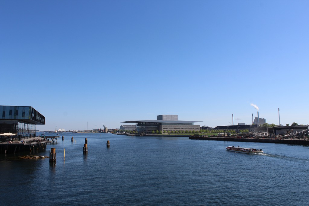 Copenhagen Inner Harbour. View in direction east from ned walk- and bike bridge