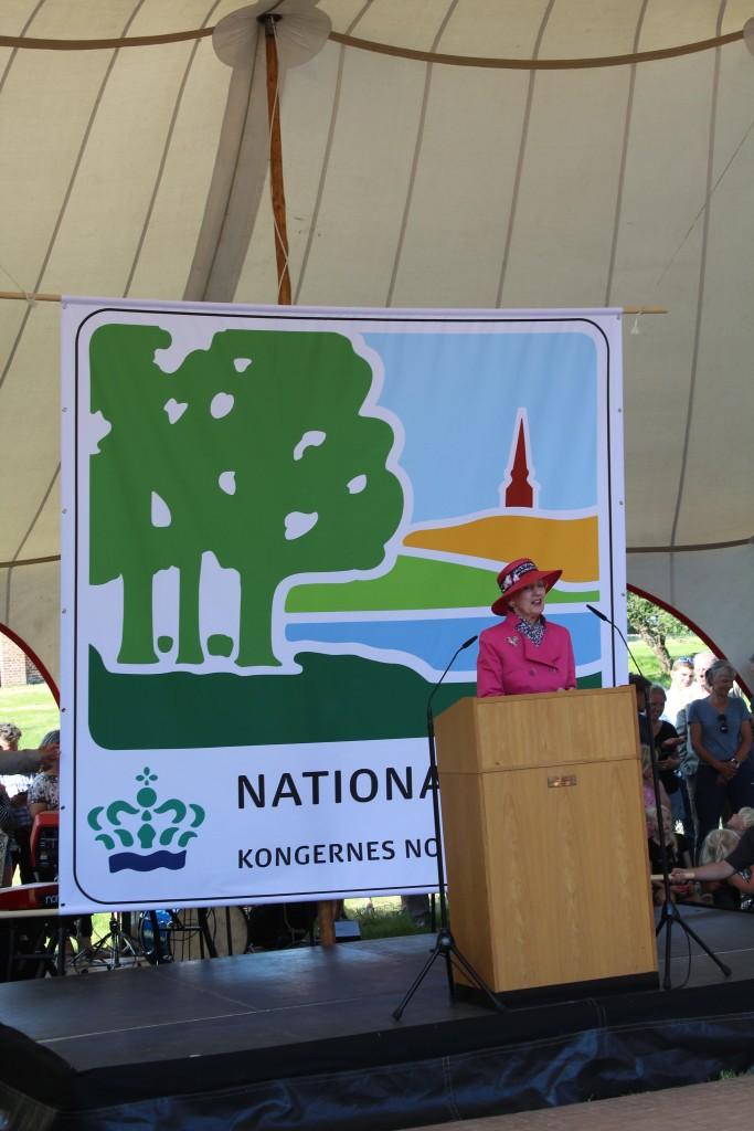 Dronning Margreteh taler vid indvielsen af nationalpark Kongernes Nordsjælland. Foto den 29 maj 2018 af erik k abrahamsen