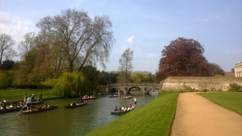 River Cam as neighbor to King´s College and Chapel. Photo (mobile) 21. april 2018 by Erik K Abrahamsen.