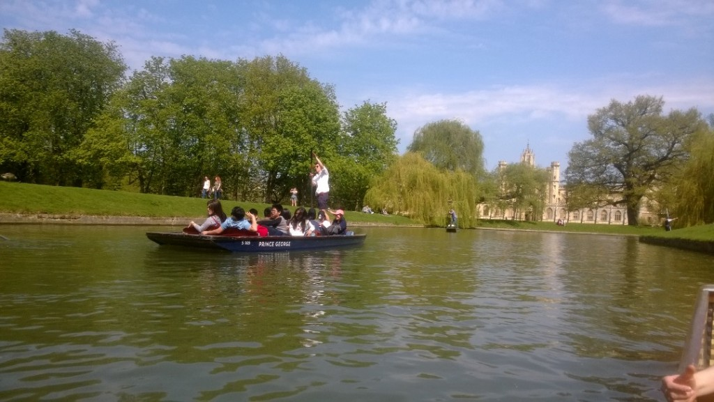 View from our flat boat on River Cam. Photo 21. april 2018 by Erik K Abrahamsen.
