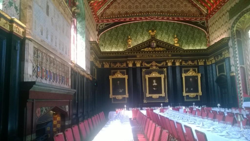 Queen College. Dining Room. Photo (mobile) 21. april 2018 by Erik K Abrahamsen.