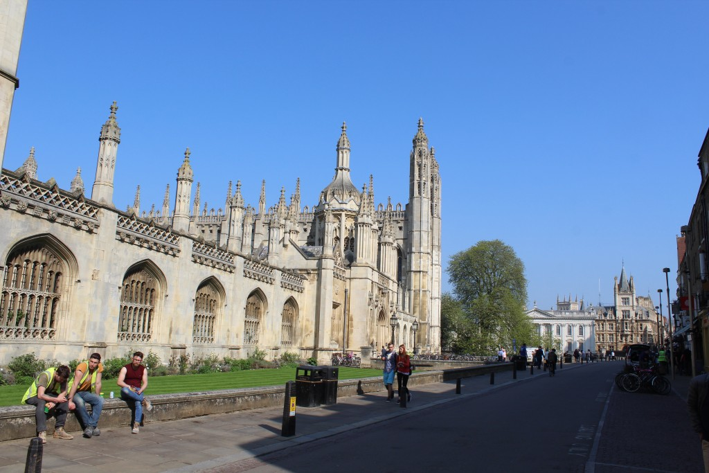 ings College and Kings Chapel., Cambridge. View to Entrance and chapel in background 20. april 2018 by Erik K Abrahamsen.