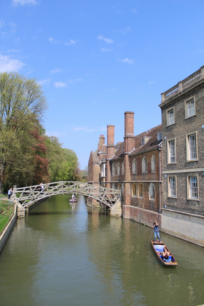 Mathematical Bridge, River Cam at Queen´s College at right on photo. Phoot 21. april 2018 by Erik k Abrahamsen.